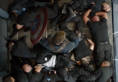 Chris Evan still from Captain America The Winter Soldier