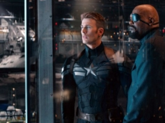 Chris Evans and Samuel L Jackson still from Captain America The Winter Soldier