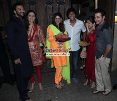 Chunky Pandey and Sanjay Kapoor at Anil Kapoor's Karva Chauth party