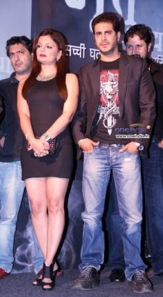 Deepshika Nagpal and Kaishav Arora at the launch of Sony's new TV show Bhoot Aaya