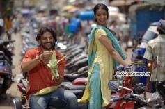 Dhananjay and Shruti in Kannada Movie Raate