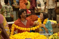 Dhananjay and Shruti in Kannada Movie Raate