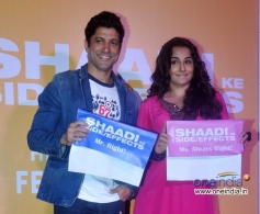 Farhan Akhtar and Vidya Balan at trailer launch of film Shaadi Ke Side Effects