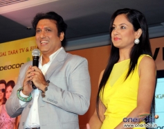 Govinda and Pooja Bose media interaction during the launch of music album Gori Tere Naina