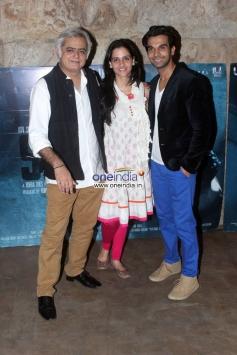 Hansal Mehta, Prabhleen Sandhu and Raj Kumar Yadav at Special screening of film Shahid