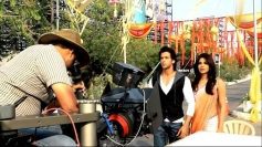 Hrithik Roshan and Priyanka Chopra still from behind the scenes of film Krrish 3