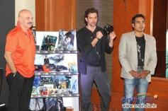 Hrithik Roshan with his father Rakesh Roshan promotes their film Krrish 3