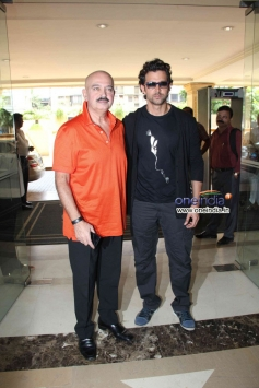 Hrithik Roshan with his father Rakesh Roshan at the Launch of Krrish 3 Merchandise