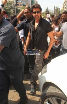 Hritik Roshan arrive at his film Krrish promotion