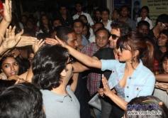 Hritik Roshan and Priyanka Chopra meet their fans during the Krrish 3 film promotion