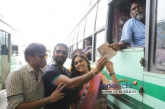 Jannal Oram to Audio Launch at Guindy Bus Stop