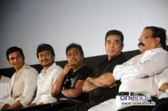 Jiiva, Udhayanidhi Stalin, Harris Jayaraj and Kamal Haasan at Endrendrum Punnagai audio launch
