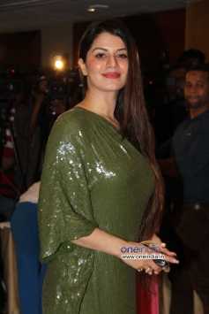 Kainaat Arora wore a green outfit at Success party of film Grand Masti