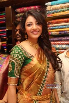 Kajal Aggarwal at Inaugration of Chennai shopping mall.