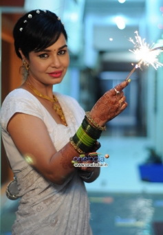 Kavitta Verma celebrating Diwali in Mumbai