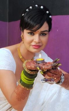 Kavitta Verma during the Diwali photo shoot in Mumbai