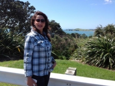 Madhuri Dixit site seeing at Auckland