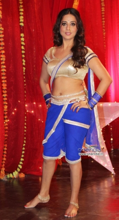 Mahie Gill on the sets of film Gangs of Ghost