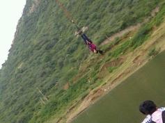 Mallika Sherawat's Bungee Jumping for Bachelorette India