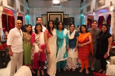 Mallika Sherawat with her family & friends on the sets of The Bachelorette India