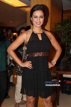 Maryam Zakaria poses at Success party of film Grand Masti