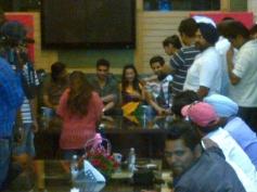 Media people covering film Desi Magic starcast