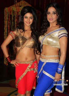 Meera Chopra along with Mahie Gill at the wrap up shoot of film Gangs of Ghost