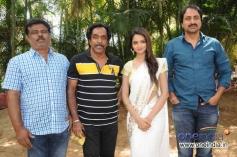 Om Prakash Rao, Shanvi Srivastava at Chandralekha Film Press Meet