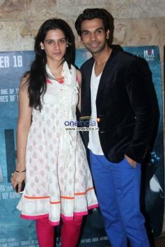 Prabhleen Sandhu and Raj Kumar Yadav at Special screening of film Shahid