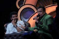 Prabhu Deva and Mithun Chakraborty on Dance India Dance show sets