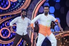 Prabhu Deva performs dance with DID show contestant during R... Rajumar film promotion