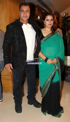 Pradeep Rawat with his wife at Success party of film Grand Masti