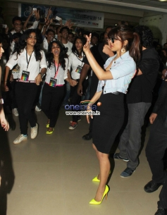 Priyanka Chopra along with Hrithik during the Krrish 3 film promotion