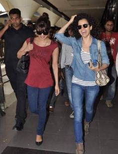 Priyanka Chopra and Kangana Ranaut return from Dubai