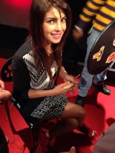 Priyanka Chopra still from behind the stage of Krrish 3 promotion at New Delhi