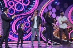 R... Rajkumar film stars on Dance India Dance show sets