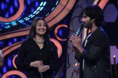 R... Rajkumar film stars Shahid and Sonakshi on Dance India Dance show sets