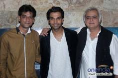 Raj Kumar Yadav and Hansal Mehta at Special screening of film Shahid