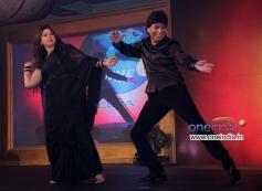 Raju Shrivastav with his wife shikha performs at Star Plus Nach Baliye 6 press meet
