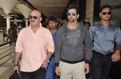 Rakesh Roshan with his son Hrithik Roshan returns from Dubai