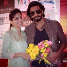 Ranveer Singh promotes Ram Leela at ITFT College