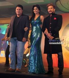 Sajid Khan, Shilpa Shetty and Terence Lewis at Star Plus Nach Baliye 6 press meet