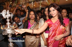 Samantha Launched Kalamandir Showroom