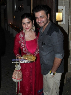 Sanjay Kapoor at Anil Kapoor residence for Karva Chauth party