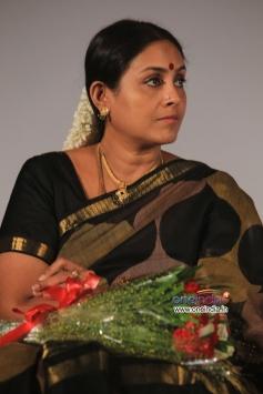 Saranya Ponvannan at All in All Azhagu Raja Audio Launch