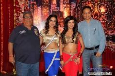 Satish Kaushik, Mahie Gill and Meera Chopra during the wrap up shoot of film Gangs of Ghost