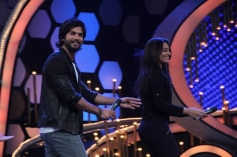 Shahid Kapoor shake a leg with Sonakshi Sinha on Dance India Dance show sets