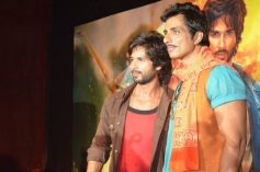 Shahid Kapoor and Sonu Sood at R... Rajkumar film Trailer launch