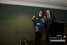 Rt Hon John Key Presenting Shahrukh Khan with the Official New Zealand Cricket Team Shirt