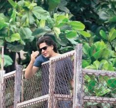 Shahrukh Khan Waves to Fans on Eve of Bakrid